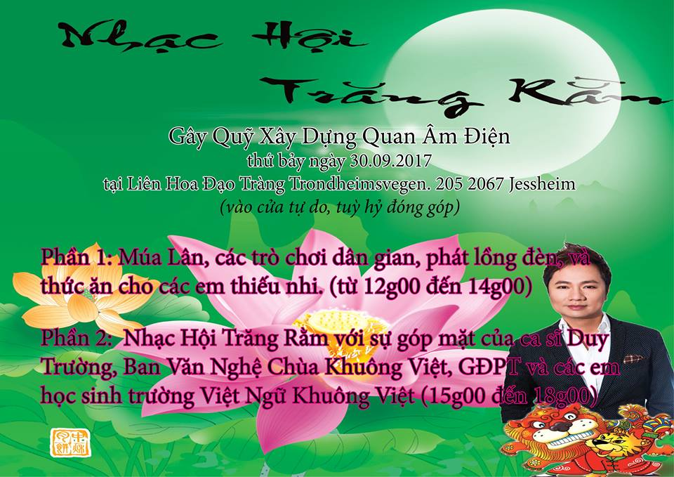 Thư Thông Báo/Thư Mời Nhạc Hội Trăng Rằm 3 – 2017